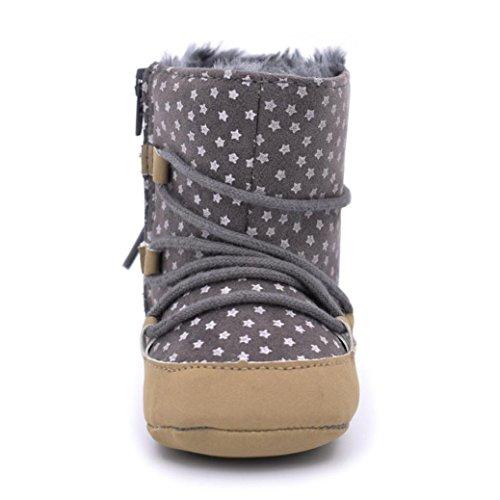 Clode® Kleinkind Baby Mädchen Warm Snow Boots Soft-Krippe Schuhe Kleinkind Stiefel Grau