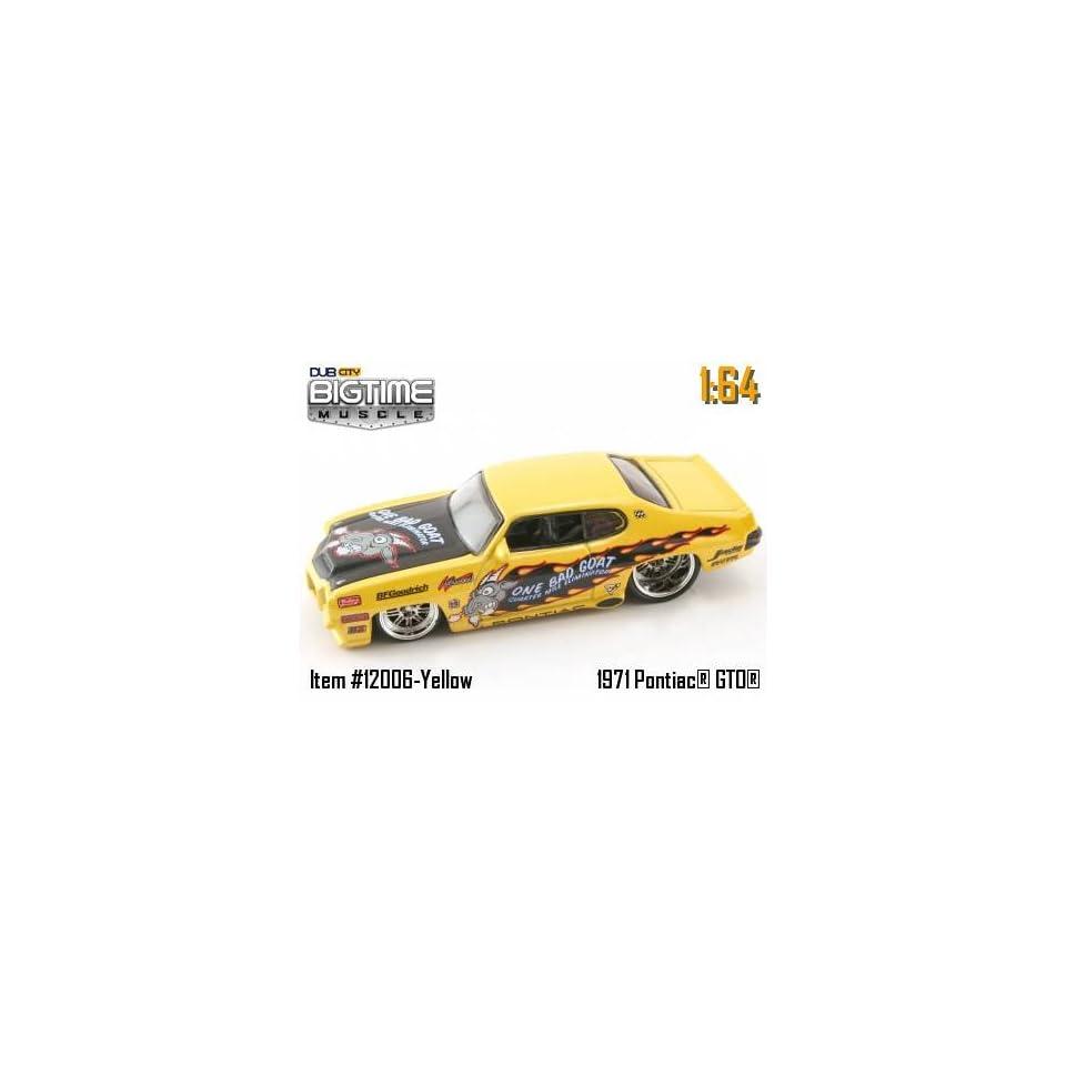 Jada Dub City Big Time Muscle Yellow One Bad Goat 1971 Pontiac GTO 164 Scale Die Cast Car