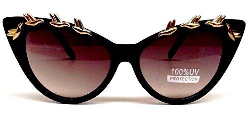 Black Cat Eye Gold Birds - Sunglasses Beyonce