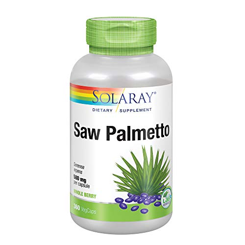 (Solaray Saw Palmetto Berries Capsules, 580 mg, 360 Count)