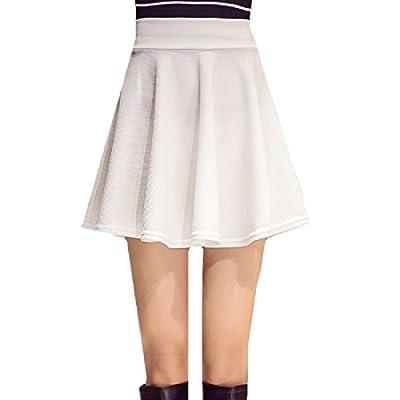 Coolred-Women Summer Pure ? Plus Size Lined Mini Skater Skirt