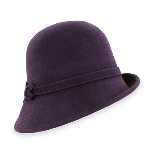 Belfry Loreen - Wool Felt Cloche Hat (Eggplant)