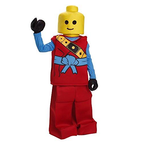 Dress Up America Halloween Kids Lego Toy Block Ninja Man Costume Outfit (Lego Man Halloween Costume)