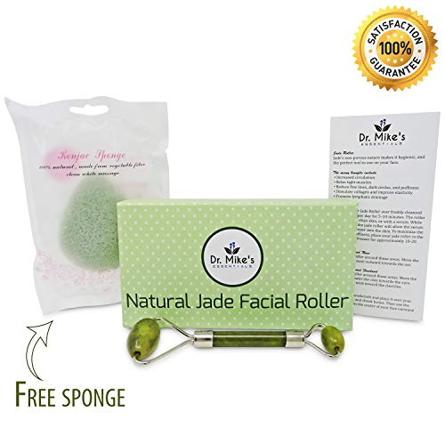 Dr. Mike's Essentials Chi Himalayan Anti Aging Jade Roller Facial Massager - Ergonomic Wand, Fine Craftsmanship - Reduce Dark Circles, Minimize Puffiness, Smoothen Fine Lines & Increase Skin Plumpness from Dr. Mike's Essentials