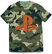 Camiseta Playstation Camuflada, Banana Geek, Adulto Unissex
