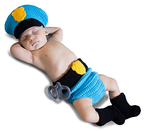 Mr. Police Officer Diaper Cover Set Baby Infant Costume - Newborn Small