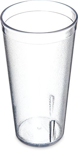 Carlisle 522007 Stackable Shatter-Resistant Plastic Tumbler, 20 oz., Clear (Case of 72) by Carlisle