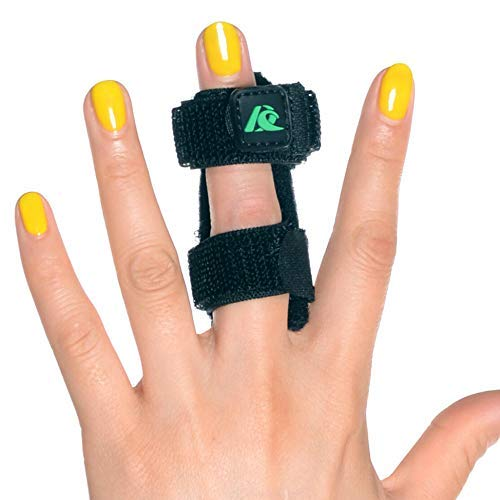 (Kangda Trigger Finger Splint for Mallet Thumb Index Middle Ring Pinkie Finger Medical Brace Fracture Wound Extension Arthritis Knuckle Joint Pain Relief Adjustable)