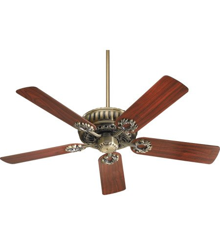 Antique Brass Finish Ceiling Fan (35525-4 Empress 5-Blade Energy Star Ceiling Fan with Reversible Blades, 52-Inch, Antique Brass)