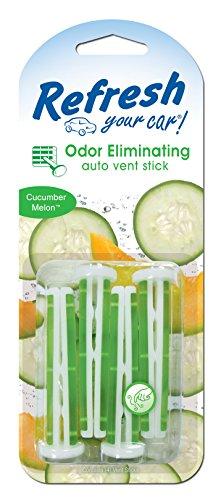 Refresh Your Car! 09584 Auto Vent Stick, Cucumber Melon, 4 Per Pack
