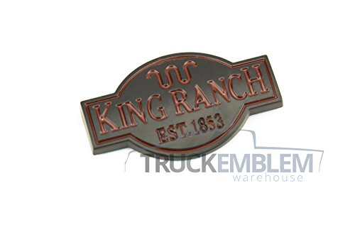 1 NEW CUSTOM KING RANCH TRUCK INTERIOR MATTE BLACK DASH EMBLEM