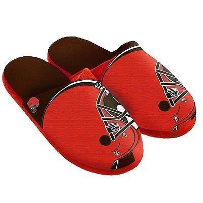 Cleveland Browns Slippers - Cleveland Browns Split Color Slide Slipper Large