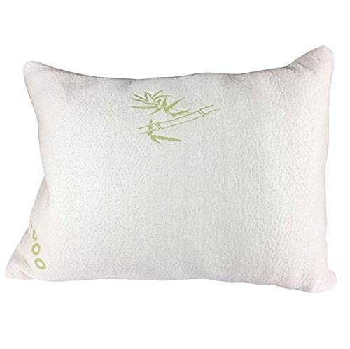 Elite Rest Shredded Memory Foam Pillow - Premium Bamboo Cotton Cover, Great for Back and Side Sleepers, Hypoallergenic