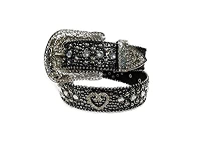 Deal Fashionista HEART Concho Metallic Western Rhinestone Bling Studded Buckle Belt