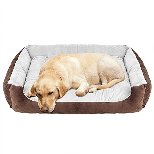 (WILLNORN Dog Bed Large Dogs Clearance Cover Removable Mat Water Resistant Bottom Washable Ped Sofa Bed Couch (L Large 35
