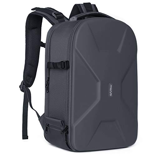 MOSISO Camera Backpack, DSLR/SLR/Mirrorless Photography Camera Bag 15-16 Inch Waterproof Hardshell Case with Tripod Holder&Laptop Compartment Compatible with Canon/Nikon/Sony/DJI Mavic Drone, Gray