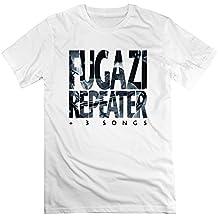 WS Men's Fugazi Album Repeater 3 Songs EP Cover White Fashion T Shirt