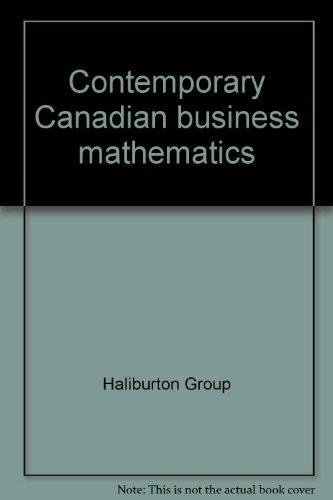 Contemporary Canadian business mathematics