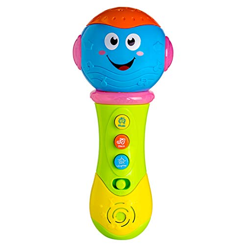 Refasy Baby Musical Toys 6-12 Months, Children Toddler Microphone Toy for 1-3 Year Old Girl Boy Kid Best Easter Toy Birthday Gift Music Toys for Babies 7 8 9 10 11 Months & Up Blue-1