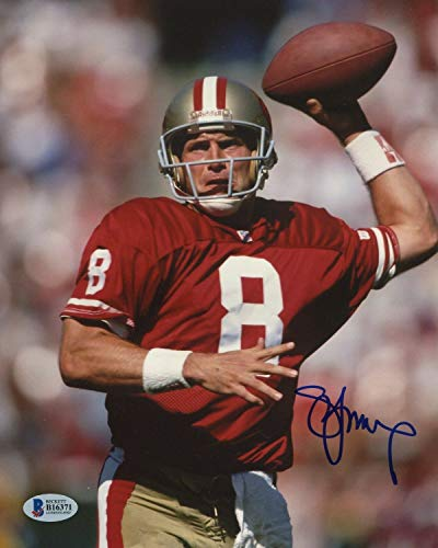 Steve Young Autographed Signed NFL San Francisco 49ers Signature - Beckett Authentic 8x10 Photo