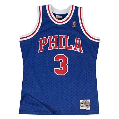 (Mitchell & Ness Philadelphia 76ers Allen Iverson 1996 Alternate Swingman Jersey (Medium))