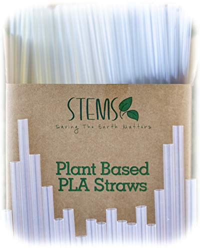 200 Clear Drinking Straws - Plant Based PLA - 100% Compostable