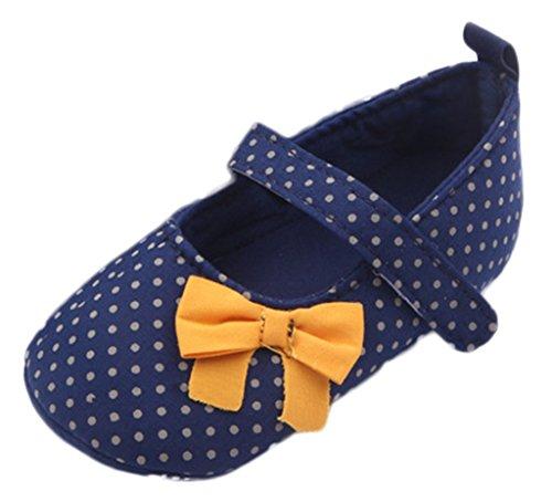 Bigood Chaussure Bébé Naissance Princesse Nœud Papillon Pois Cadeau