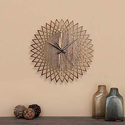 Buy Decor Studio Forest 12 Inch Decorative Wall Clock For Home Kitchen Living Room Bedroom Brown Online At Low Prices In India Amazon In