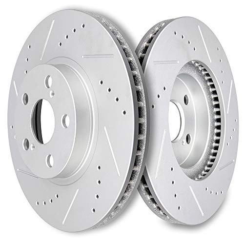 - SCITOO Brakes Rotors 2pcs Front Drilled Slotted Discs Brake Rotors Brakes Kit fit 2003-2008 Pontiac Vibe,2005-2010 Scion tC,2000-2005 Toyota Celica,2003-2008 Toyota Corolla,2003-2008 Toyota Matrix
