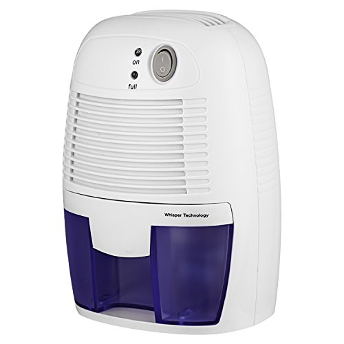 Rendio Auto Quiet Portable Compact Home Dehumidifiers, Electric Dehumidifier with 1.5L Water Tank (500ml) by Rendio