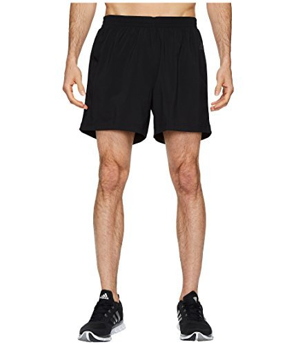 adidas Men's Running Response Shorts, Black/Black, Small/5''
