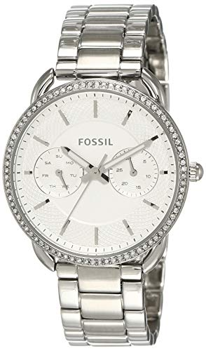 Fossil Women's Tailor Quartz Watch with Stainless-Steel Strap, Silver, 16 (Model: ES4262) (Fossil Watch For Ladies)