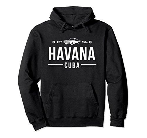 City Classic Car (Unisex Havana Cuba - Classic Car Caribbean Pullover Hoodie Small Black)