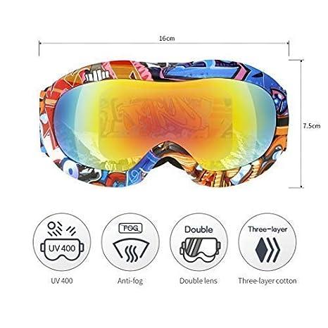 VELLAA Gafas de Esquí, Anti Niebla OTG Gafas de Esquiar para Mujer Hombre Juventud Chicos Chicas 100% Protección UV 400 Magnéticos Lentes, ...