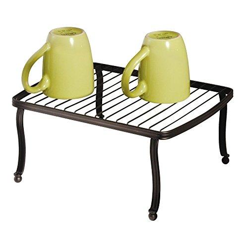 iDesign York Metal Free Standing Rectangular Storage Shelf for Kitchen Countertop, Pantry, Cabinet, Bathroom, Office, 12