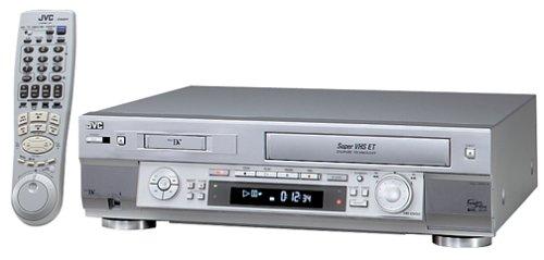 JVC HR-DVS2U Mini-DV/S-VHS VCR Combo, Silver