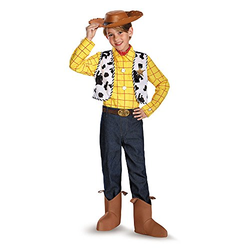 [Disguise Disney Pixar Toy Story and Beyond Woody Prestige Boys Costume, Small/4-6] (Toys Story Woody Costume)