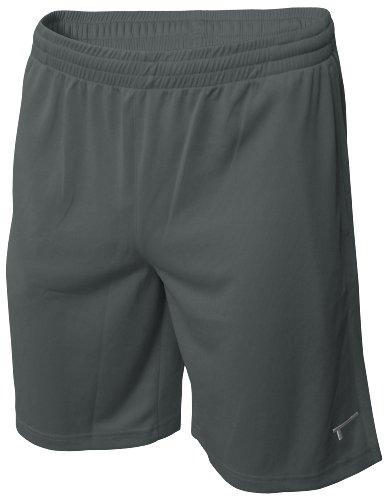 TREN Herren COOL Polyester Mesh Performance Short Sporthose mit Seitentaschen Dunkelgrau 020 - M