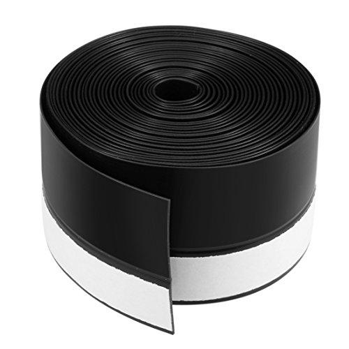 uxcell 1-3/4 Inch(45mm) Width 4M Long Weather Stripping Frameless Door Bottom Seal Black