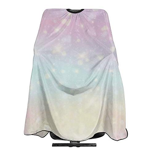 Hueale Pastel Color Personalized Custom Professional Hair Salon Apron, Polyester Hair Shawl 55
