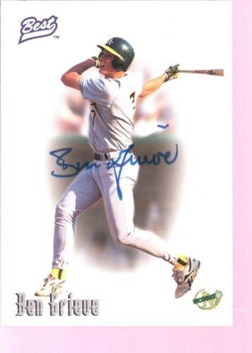 BEN GRIEVE 1996 BEST ROOKIE ON CARD AUTOGRAPH AUTO RC MINT SP OAKLAND A'S $15