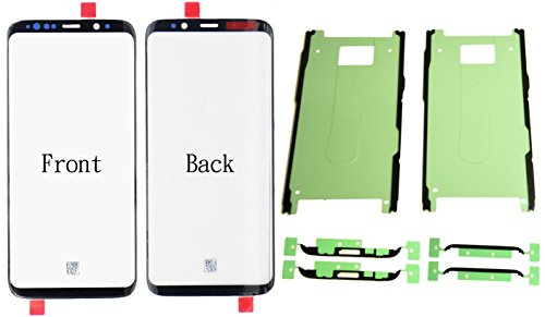 Front Outer Glass Lens Screen Replacement + Adhesives For Samsung Galaxy Note 8 N950A N950F 6.3 inch (Black)