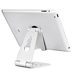 Universal Tablet Stand,Durable Adjustable Cell Phone Stand ,Anti-Slip Stand Desk Holder for iPhone X 8 7 6 6s Plus 5 5s 5c Fire Tablet Charging,iPad Mini 1/2/3/Air Pro, Android tablet holder