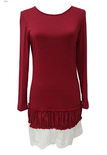 OMZIN Longues Fille Mre Vtements Manches Famille et Femmes Outfits Dcontracts de Rouge 7wXrtq7x