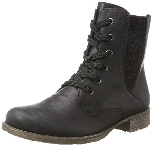 Rieker Women's 70806 Boots, Black, 3.5 UK Black (Schwarz/Schwarz 00)