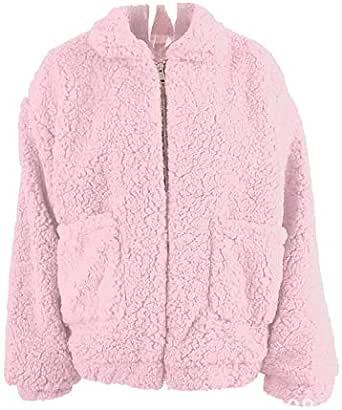 2018 trend fashion autumn winter reversible fluffy faux fur coat BF wind fleece jacket warm cardigan for lady pink M yards