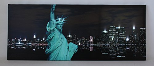 Northlight LED Lighted Statue of Liberty with New York City Skyline Canvas Wall Art, 15.75