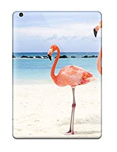 New Two Flamingos Tpu Skin Case Compatible With Ipad Air