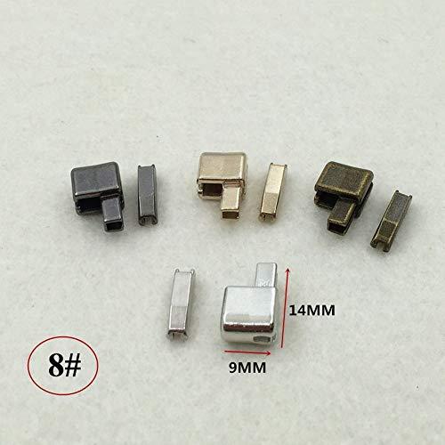 Zinc Alloy Metal Zipper 10Pcs 3# 5# 8# 10# Repair Single Open Slider Plug Accessories Insert Box Pin Retainer for Zip Sewing Replacement Clothes Pants Jackets Tent DIY (Bronze, 8)