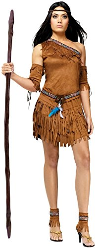 [Pow Wow Sexy Indian Adult Costume - Native American (Sm/Md)] (Pocahontas Costumes)